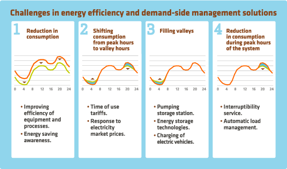 Challenges in energy afficiency and demand-side management solutions