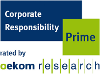Logo Corporate Responsibility Prime rated by oekom research