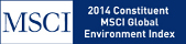 MSCI. 2014 Constituent. MSCI Global Environment Index.