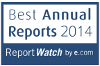 Logo Best Annual Reports 2014. Report Watch by e.com