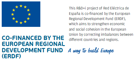 Co-financed by the European Regional Development Fund (ERDF). This R&D+i project of Red Eléctrica de España is co-financed by the European Regional Development Fund (ERDF), which aims to strengthen economic and social cohesion in the European Union by correcting imbalances between different countries and regions. A way to build Europe.