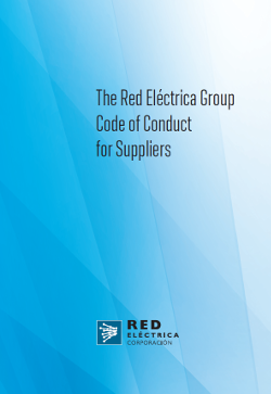 Cover of The Red Eléctrica Group Code of Conduct for Suppliers.
