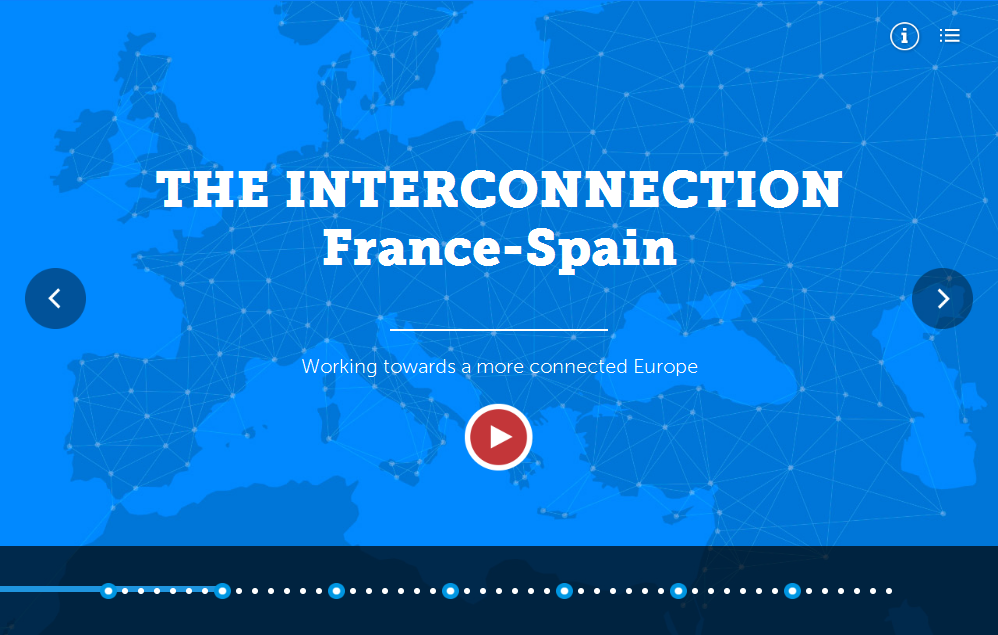 Picture of the virtual tour of the Spain-France electricity interconnection (INELFE)