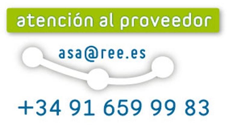 Datos de contacto del servicio de atención al proveedor