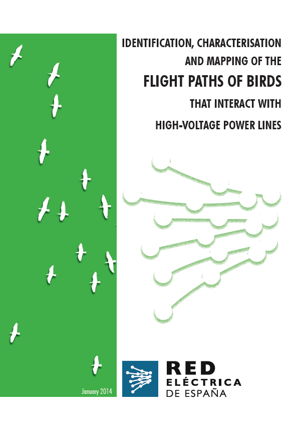 Cover of Identification, characterisation and mapping of the flight paths of birds that interact with high-voltage power lines.