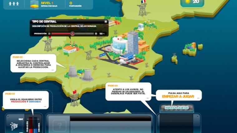 Controla Game screen