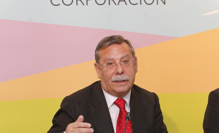 The Chairman of Red Eléctrica, José Folgado, during the Annual general Shareholders' Meeting press conference