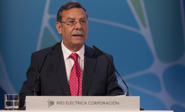 Red Eléctrica's Chairman, José Folgado, during the General Shareholders' Meeting 2012