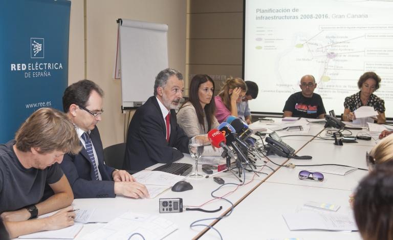 Un momento de la presentación del balance eléctrico de Canarias, en la sede de Red Eléctrica en Las Palmas.
