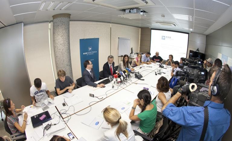 Encuentro con los medios de comunicación para la presentación del balance eléctrico de Canarias.