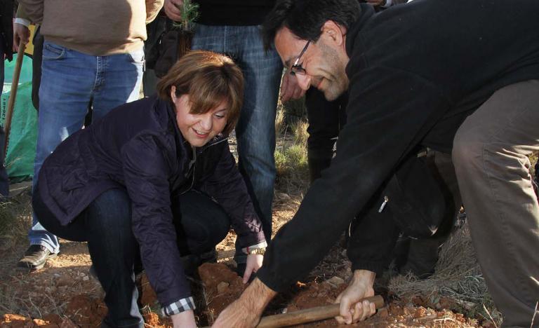 La Consejera de Infraestructuras. Territorio y Medio Ambiente de la Generalitat Valenciana. Isabel Bonig, en la presentación de El Bosque de Red Eléctrica en la sierra de Calderona