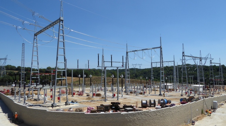 La Farga substation, currently under construction.