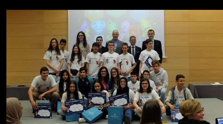 The Regional General Directors of Education, Innovation, Employment, Industry and Commerce, and Red Eléctrica's Regional Delegate for the Ebro area presented the prizes to the winners of the Olympiada entreREDes held in Logroño.