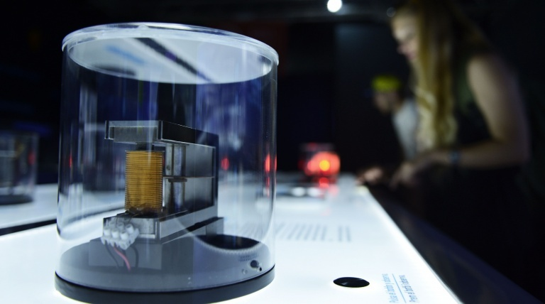 """""""Electricity transformed into movement"""" experiment in the exhibit's lab."""
