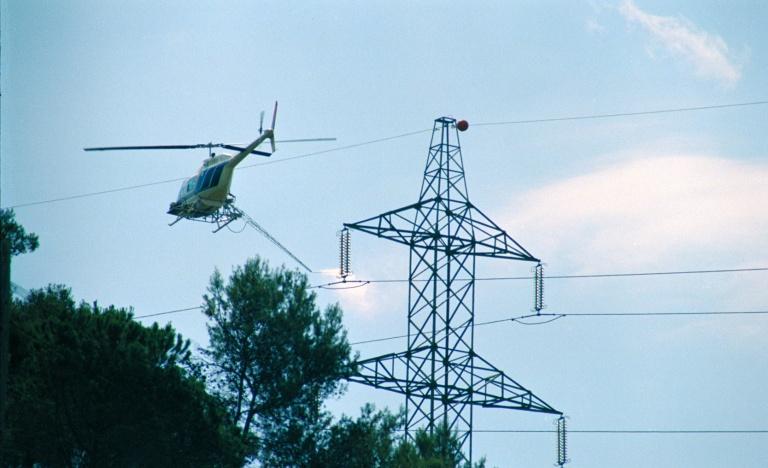 Lavado con lanza desde un helicóptero