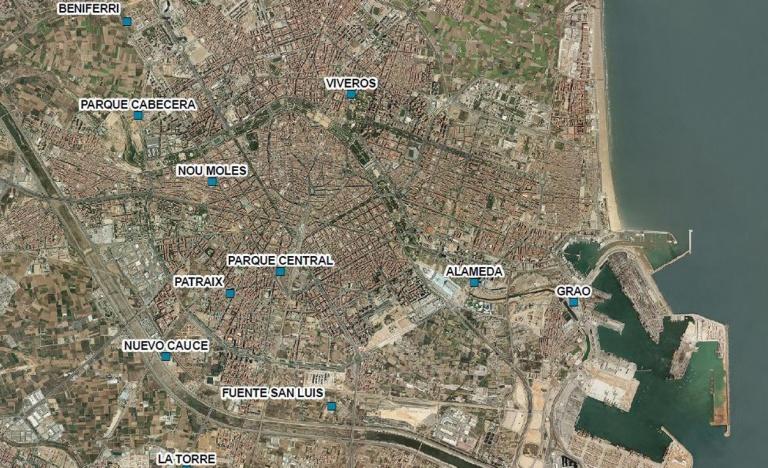 Plano de las nuevas subestaciones previstas para Valencia.