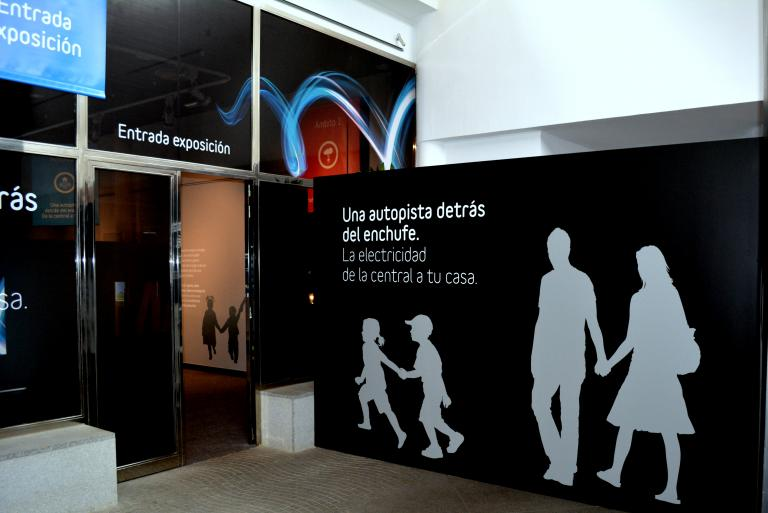 Entrance to the exhibition at the Open Museum of Merida.