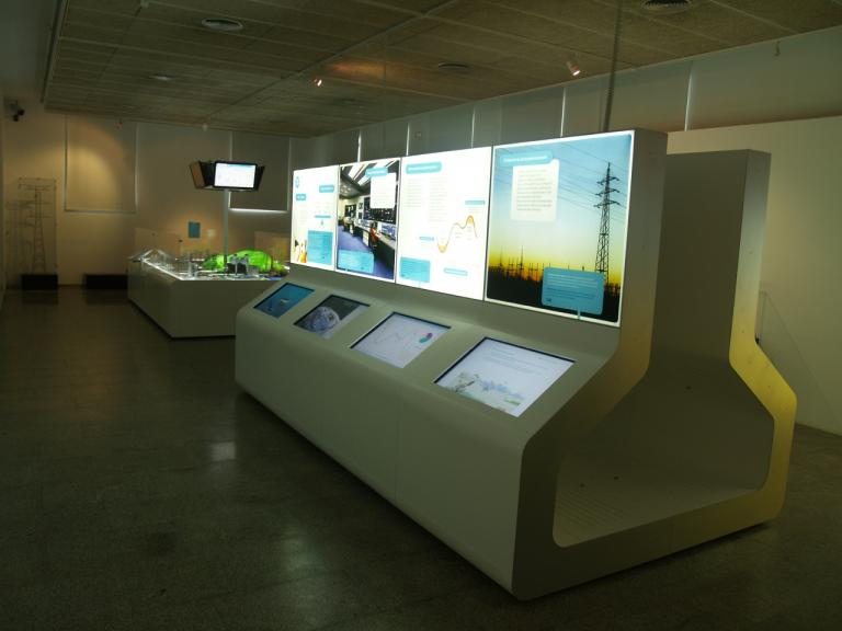 Display model showing the second section.