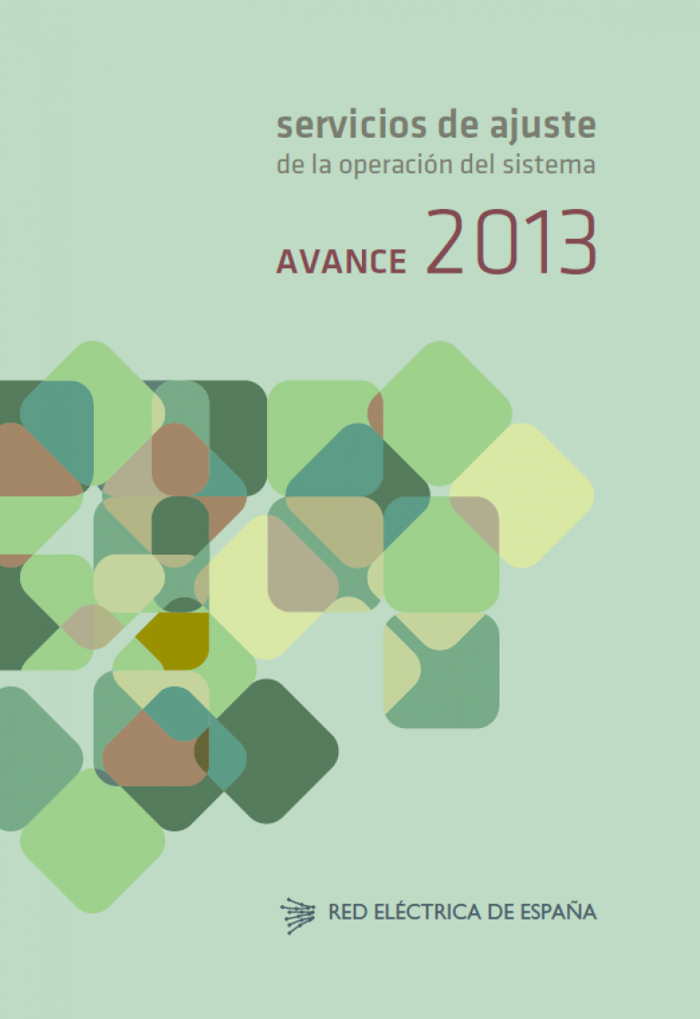 Servicios de ajuste de la operación del sistema. Avance 2013.
