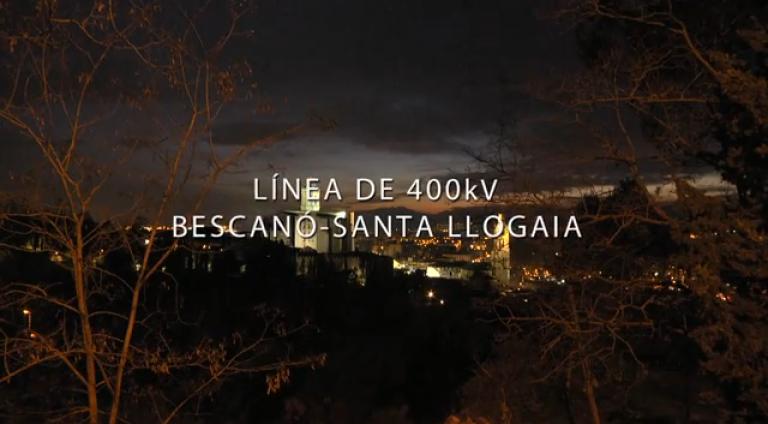 Video línea de 400kV Bescanó - Santa Llogaia