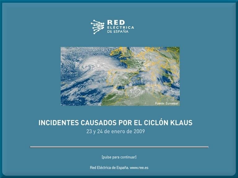 Incidentes causados por el ciclón Klaus