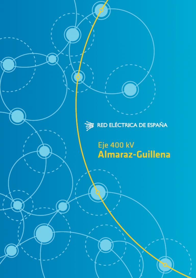 Portada Eje Almaraz-Guillena: folleto informativo.