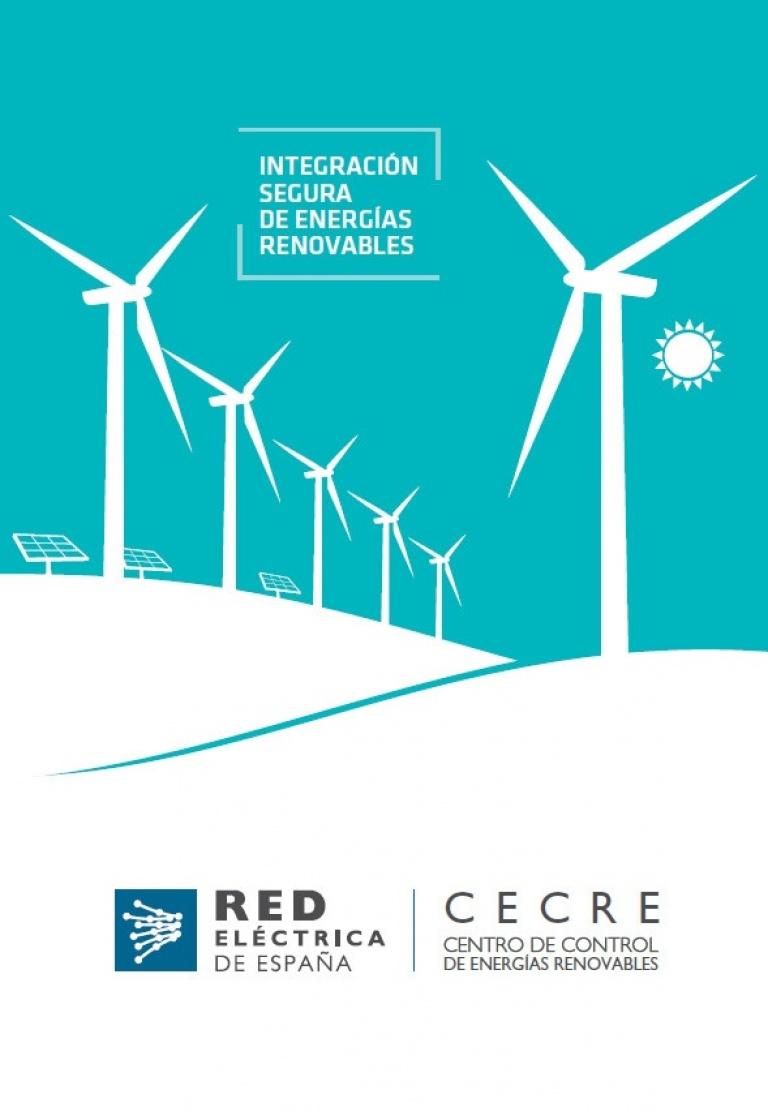 Portada folleto CECRE Centro de control de energías renovables.