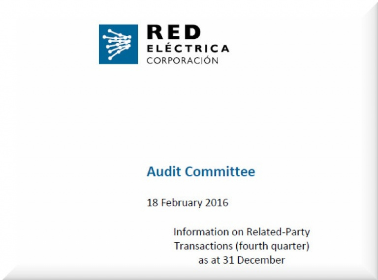 Cover of Information on Related‐Party Transactions (fourth quarter) as at 31 December 2015