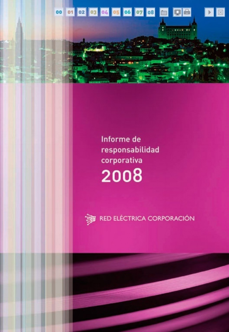 Portada del Informe de Responsabilidad Corporativa de 2008