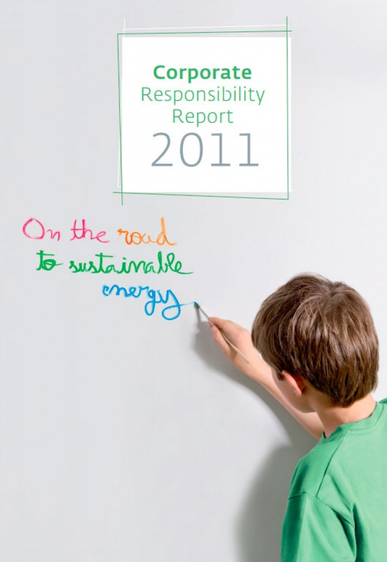 Front cover of Corporate Responsibility Report 2011