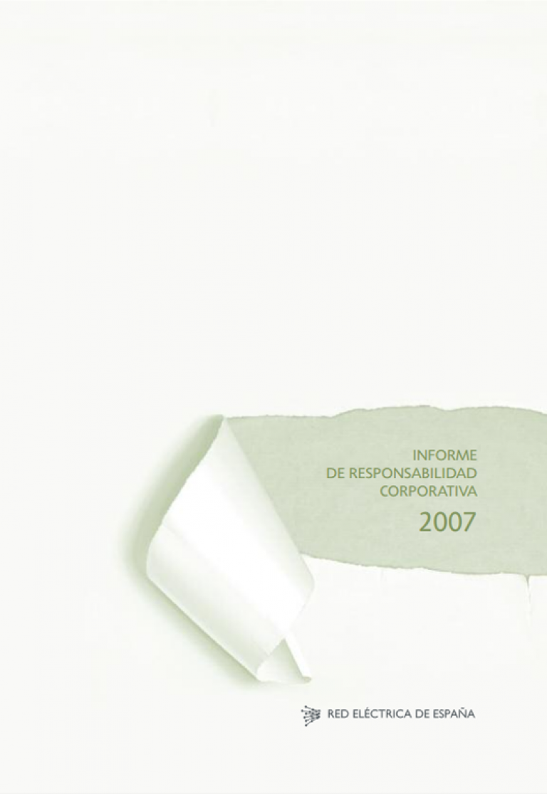 Portada del Informe de Responsabilidad Corporativa de 2007