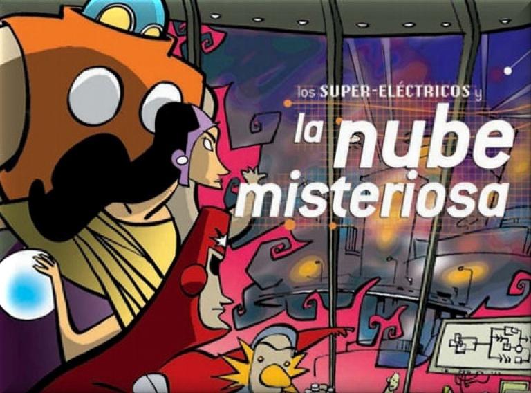 Portada de 'Los super-eléctricos y la nube misteriosa'