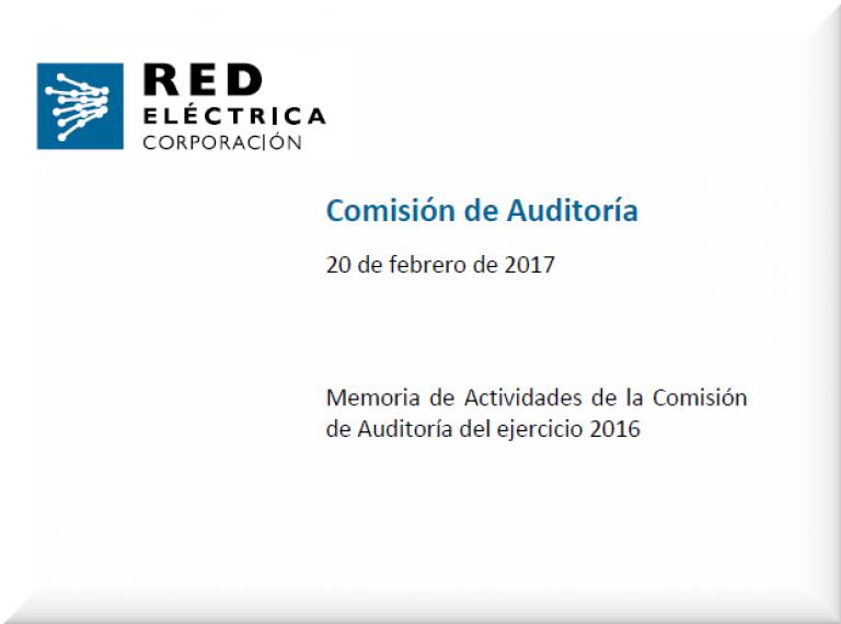 Descargar memoria de Actividades de la Comisión de Auditoría
