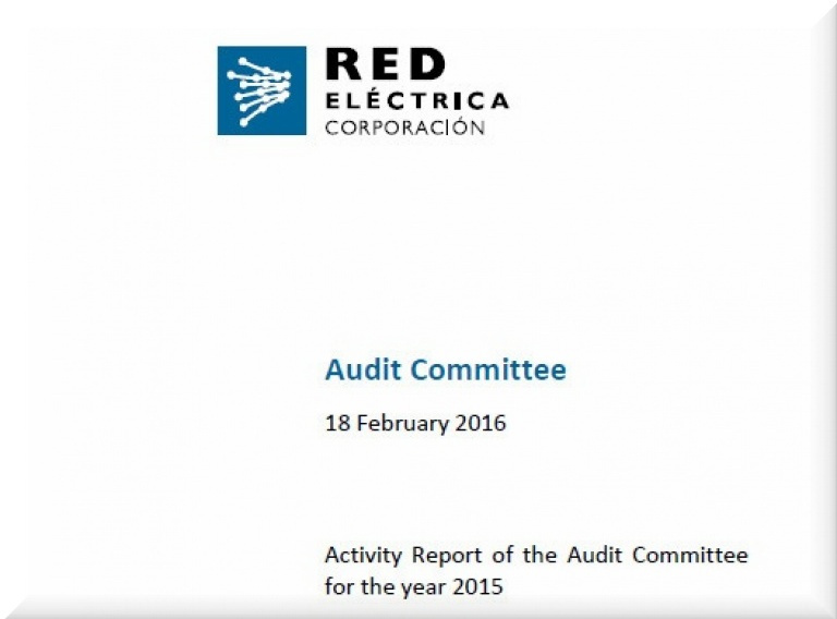 Cover of Activity Report of the Audit Committee for the year 2015