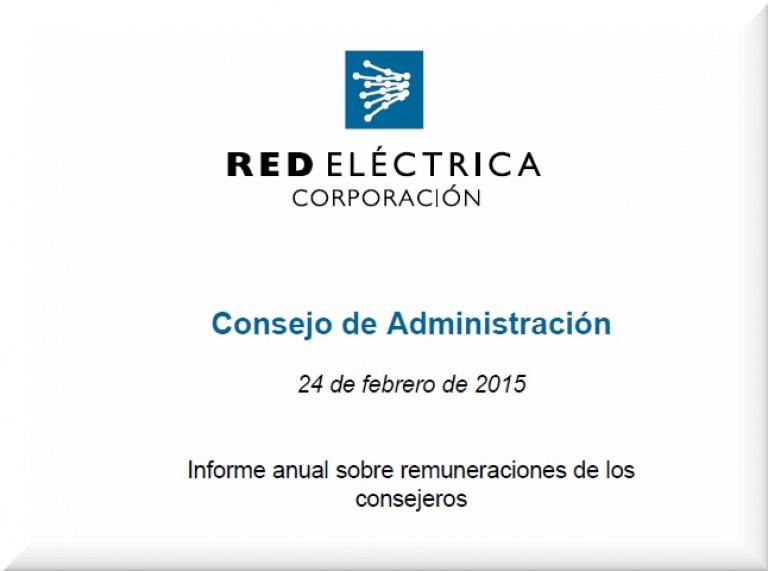 Portada del Informe anual sobre remuneraciones de los consejeros.