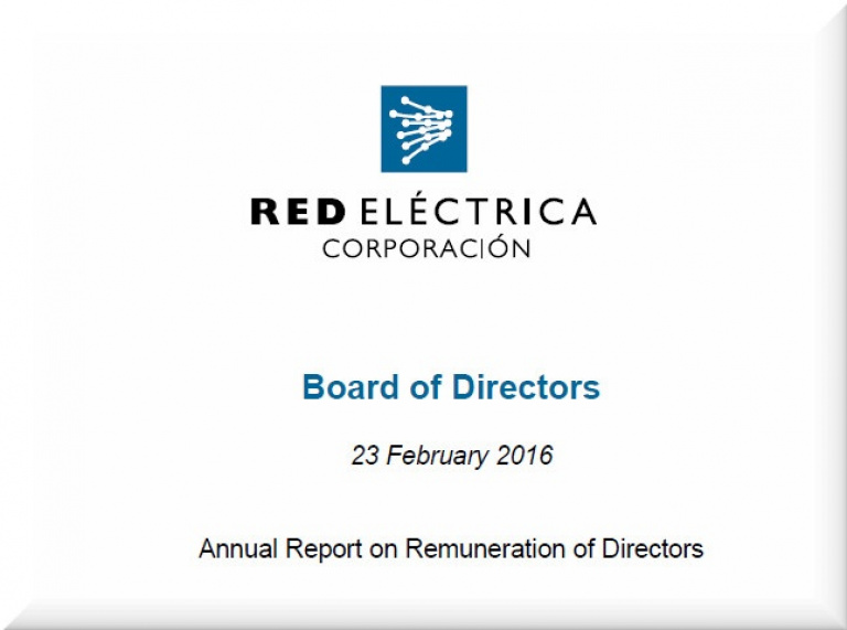 Cover of Anual Report on Remution of Directors 2016