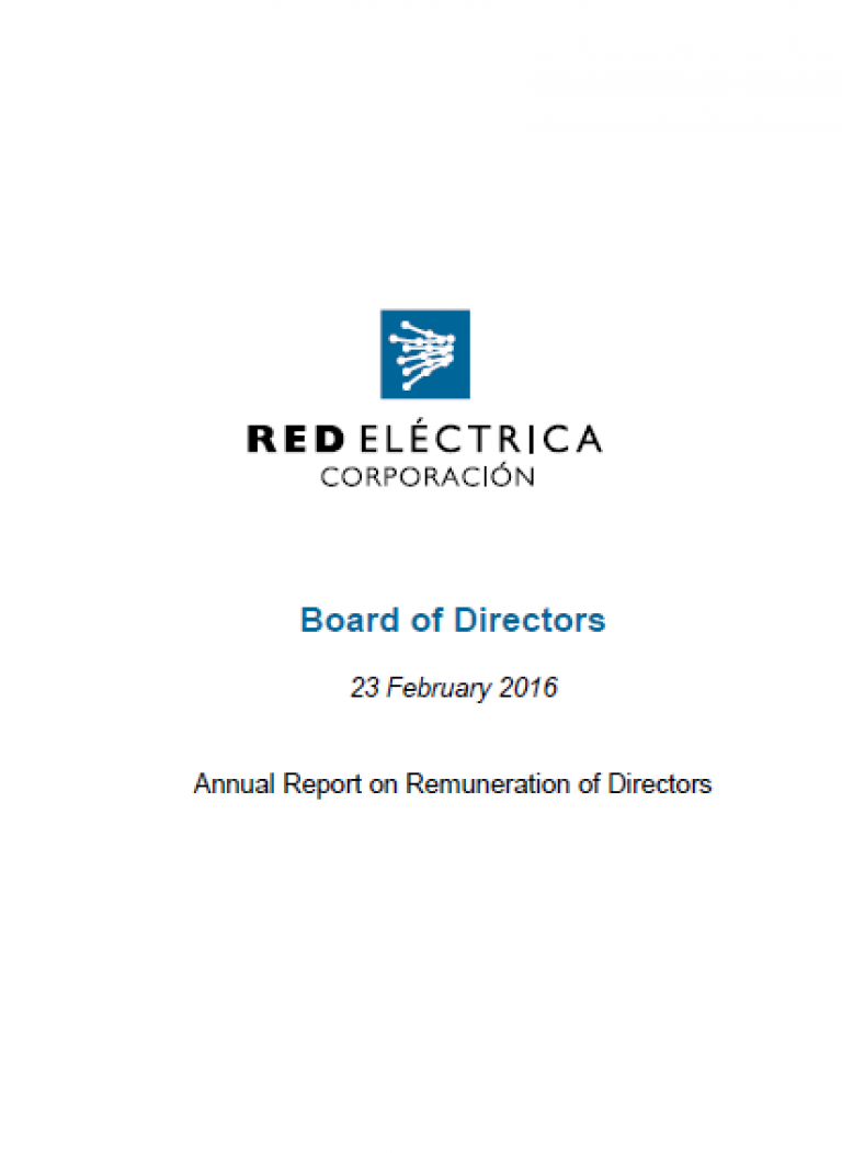 Portada Anual Report on Remution of Directors 2016