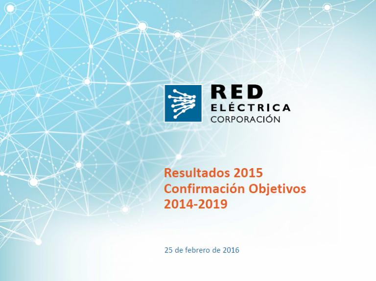 Presentación Resultados 2015. Confirmación Objetivos 2014-2019