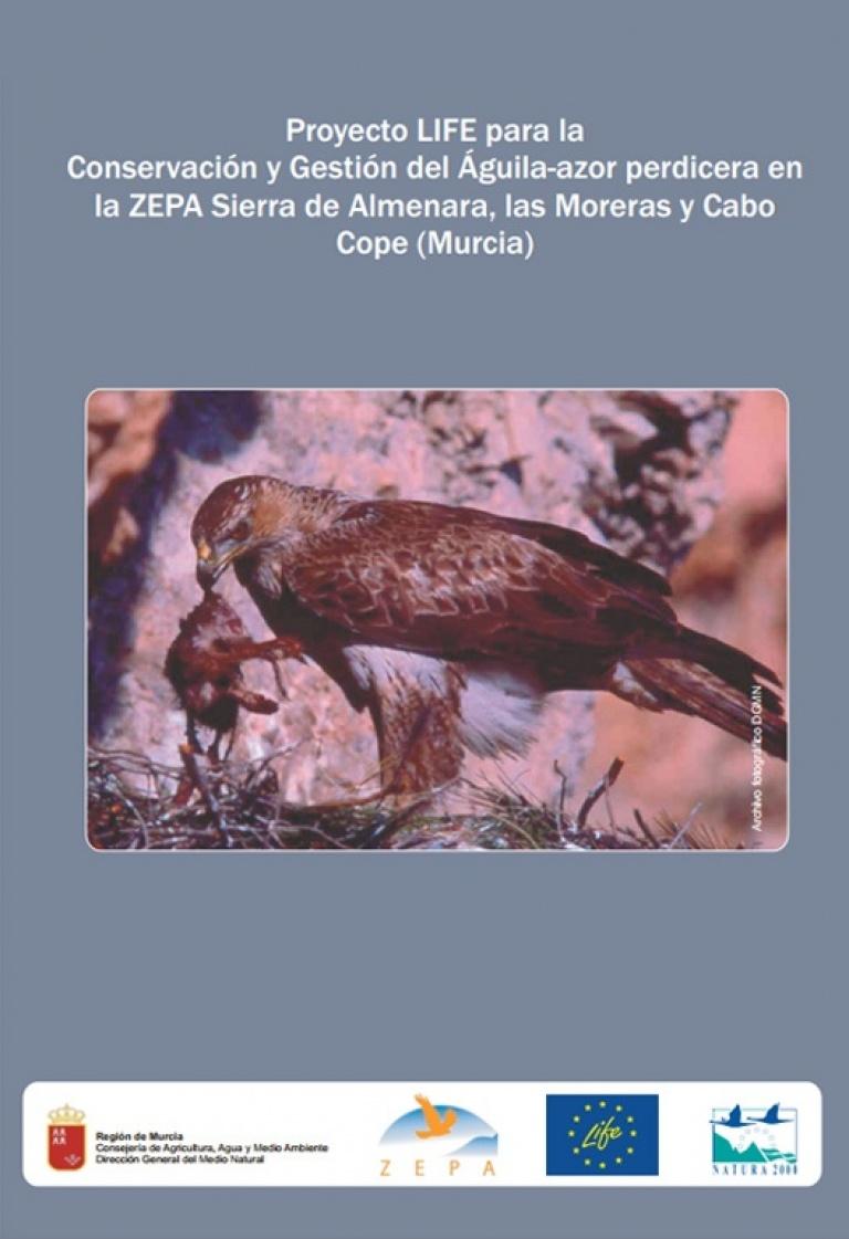Portada de 'Proyecto LIFE para la conservación y gestión del águila-azor perdicera en Murcia'