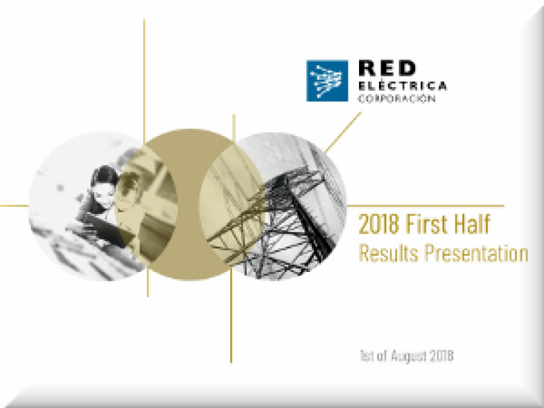Cover of 1H18 Results Presentation