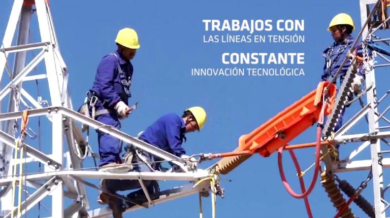 Trabajos con líneas en tensión. Constante innovación tecnológica.